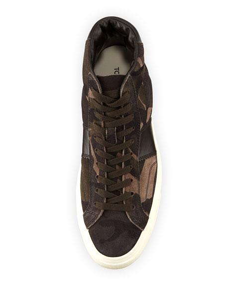Cambridge Camouflage Suede High-Top Sneaker