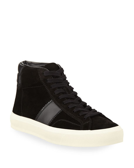 60ebeff36f TOM FORD Cambridge Suede High-Top Sneaker