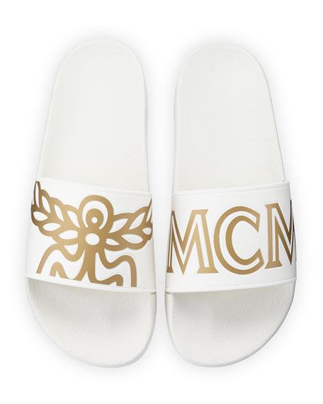 99725bfd22f2 MCM Men s Rubber Logo Slide Sandal