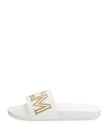 Men's Rubber Logo Slide Sandal