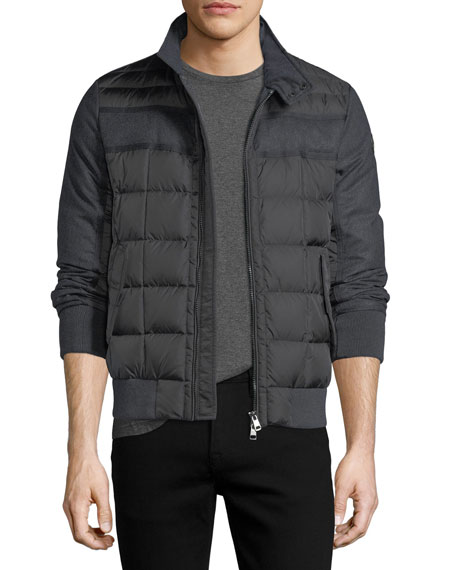 Image 1 of 1: Aramis Wool-Paneled Nylon Puffer Jacket