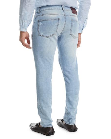 Light Wash Straight-Leg Jeans