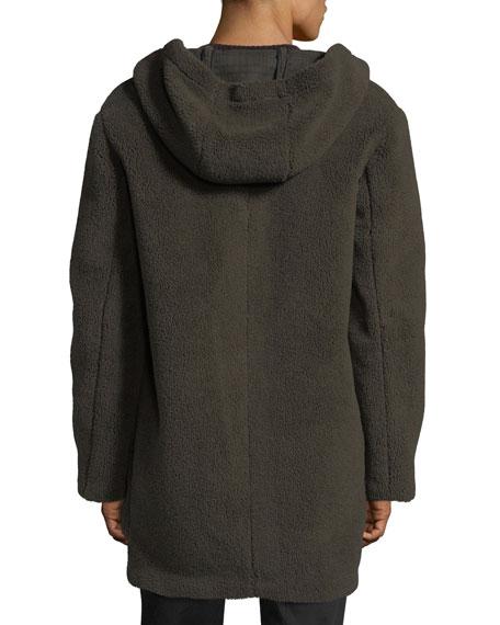 Hooded Sherpa Toggle Coat