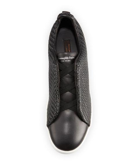 Pelle Tessuta™ Triple-Stitch Slip-On Sneakers, Black