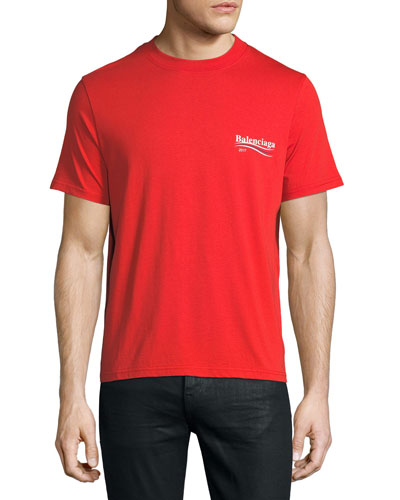 Short-Sleeve Campaign Logo T-Shirt, Red