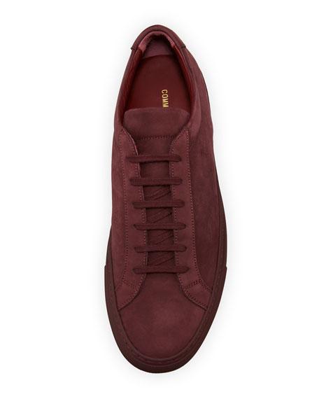 Men's Original Achilles Nubuck Low-Top Sneaker, Wine