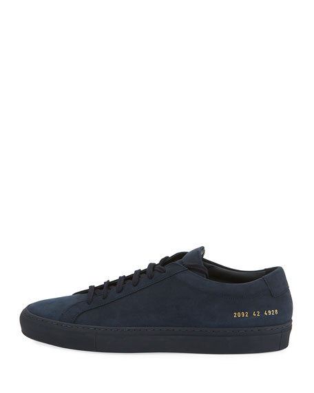 Men's Original Achilles Nubuck Low-Top Sneaker, Navy