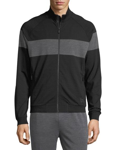 Techmerino Stripe Zip Sweatshirt