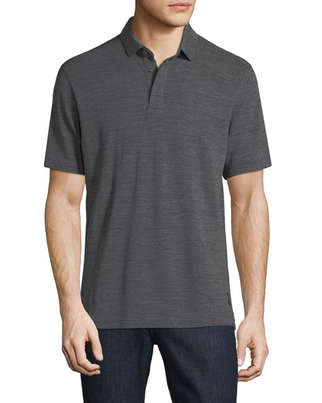 Techmerino Wool Polo Shirt, Dark Gray