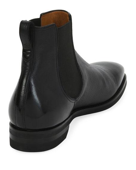Scavone Deerskin Leather Chelsea Boot