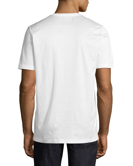 Thermal Logo Cotton T-Shirt, White