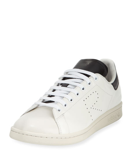 Men's Stan Smith Leather Low-Top Sneaker, White/Black