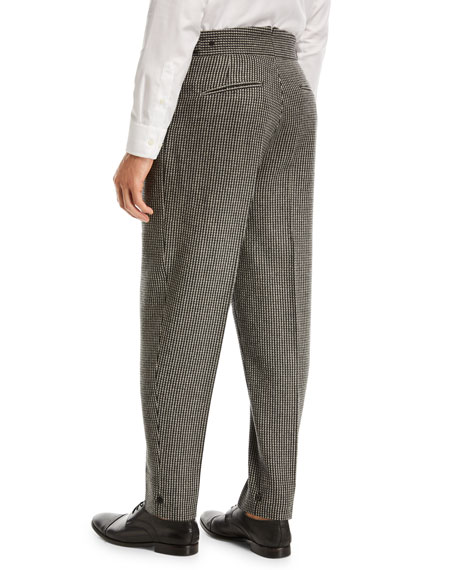 Jacquard Check Trousers
