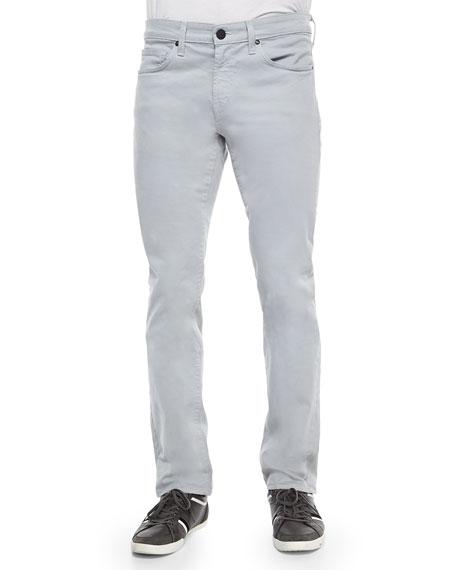 J Brand Kane Straight-Leg Twill Pants, Charcoal