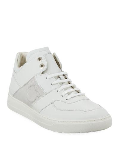 Men's Leather Mid-Top Sneaker