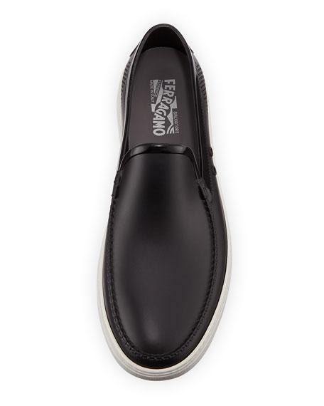Men's Perforated Grommet Boat Shoe