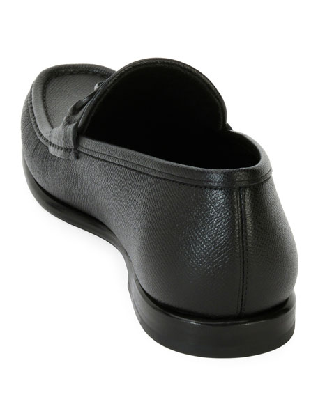 c1d5ca17306 Salvatore Ferragamo Men s Textured Leather Gancini Moccasin Loafer
