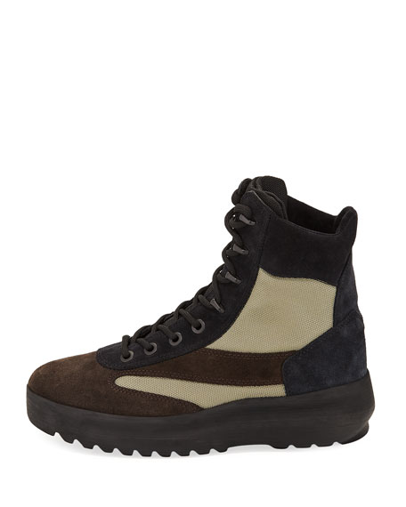 Suede Military Boot