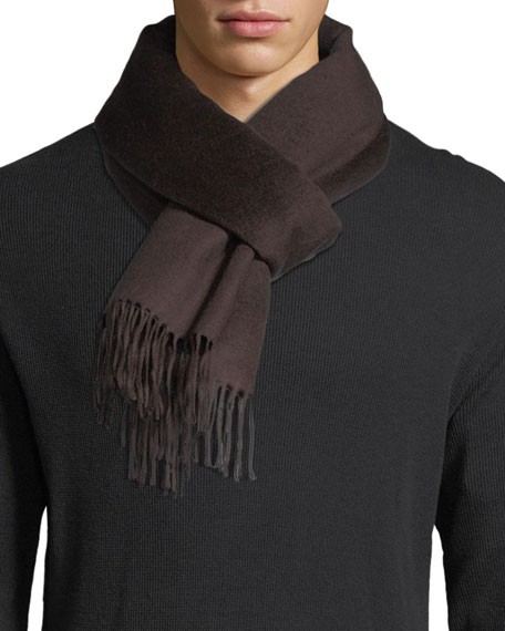 Double-Face Silk Fringe Scarf