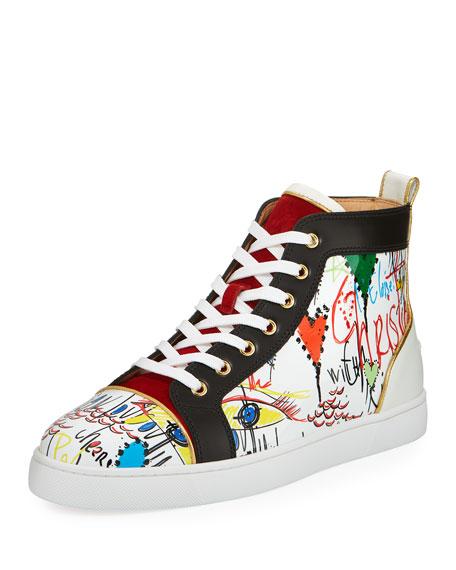 Louis Loubi Tag Men's Lace-Up Sneaker