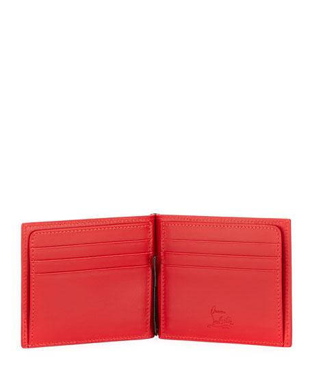 Clipsos Studded Leather Bi-Fold Wallet