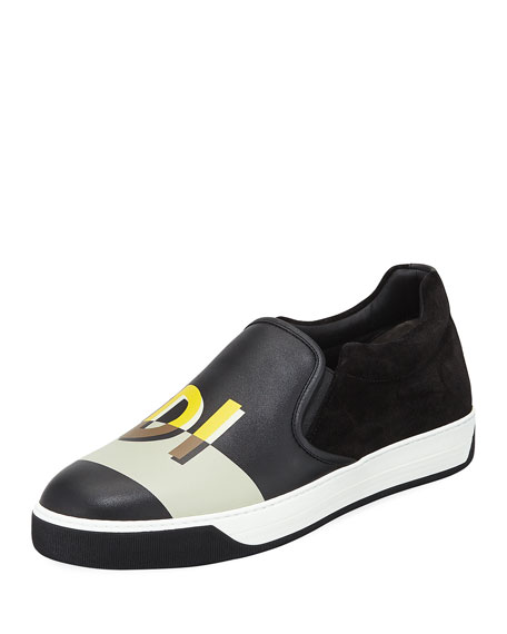 Fendi Black 'Fendi Vocabulary' Sneakers