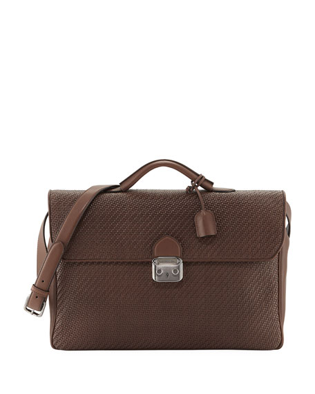 Pelle Tessuta Briefcase