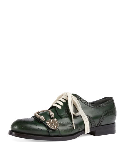 Queercore Spirit Buckle Lace-Up Brogue Shoe