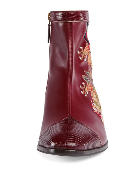 4dabc8a952741 Gucci Leather Boot with Dragon