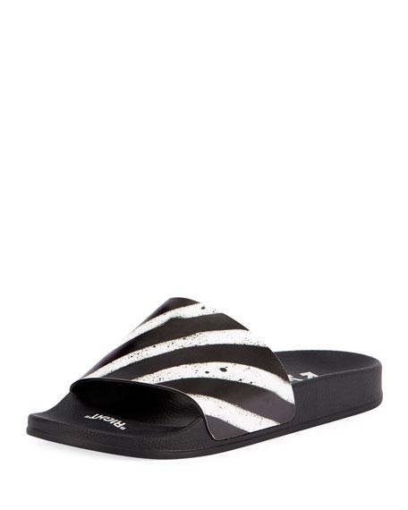 Spray Striped Slide Sandal