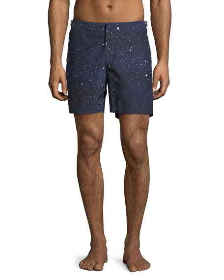 Bulldog Constellation Printed Swim Trunks