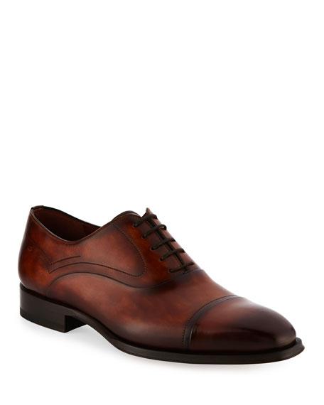 Magnanni for Neiman Marcus Cap-Toe Leather Oxford Shoe