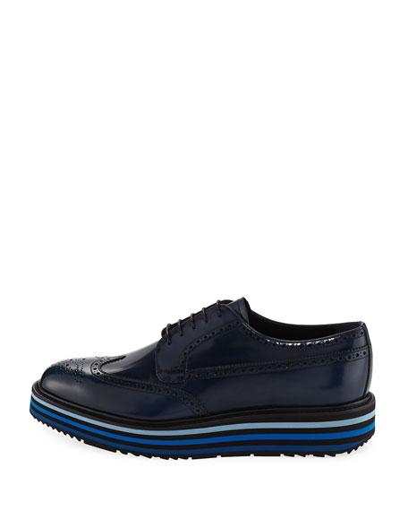 Spazzolato Leather Brogue Sneaker