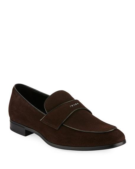 e5c2a94c624 Prada Suede Vitello Loafer