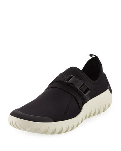Scuba Low-Top Stretch Sneaker, Black/White