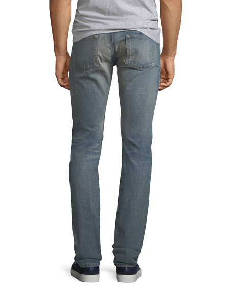 Men's Slim-Fit Light-Wash Jeans