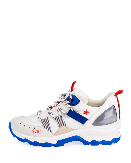 Colorblock Leather Trainer Sneaker