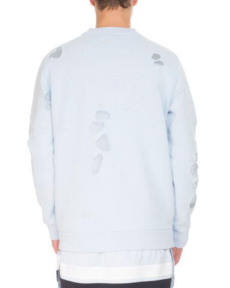 Distressed Logo Oversized Sweatshirt