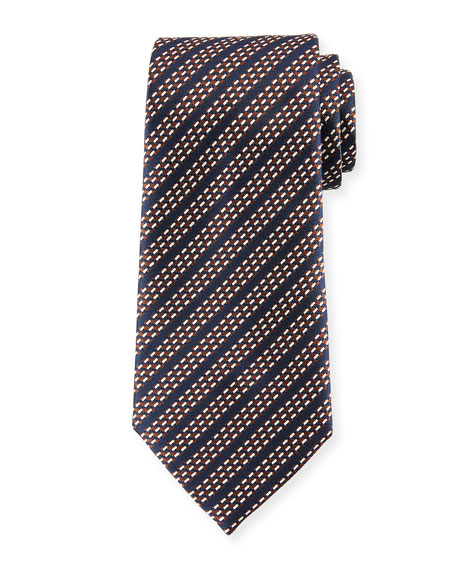 Ermenegildo Zegna Dash Stripes Silk Tie