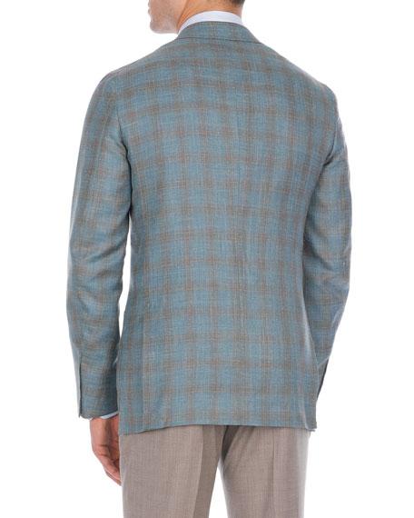 Two-Tone Plaid Wool-Blend Sport Coat