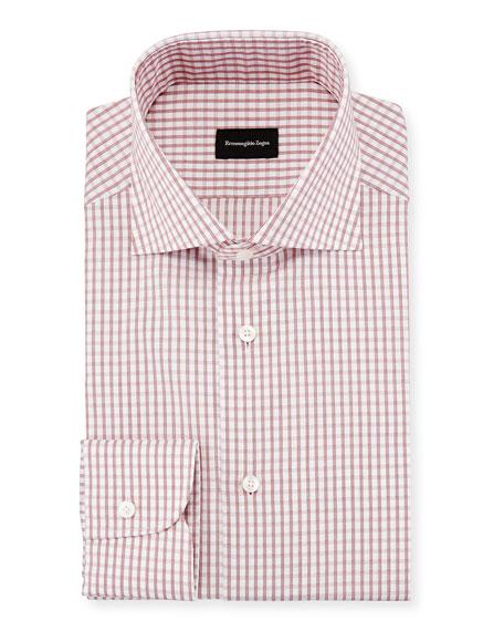 Graph Check Dress Shirt, Red/White