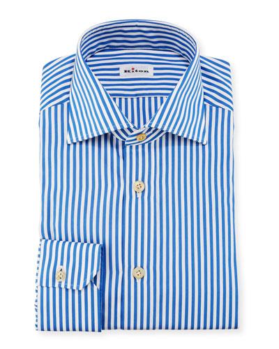 Bengal-Stripe Dress Shirt, Blue/White