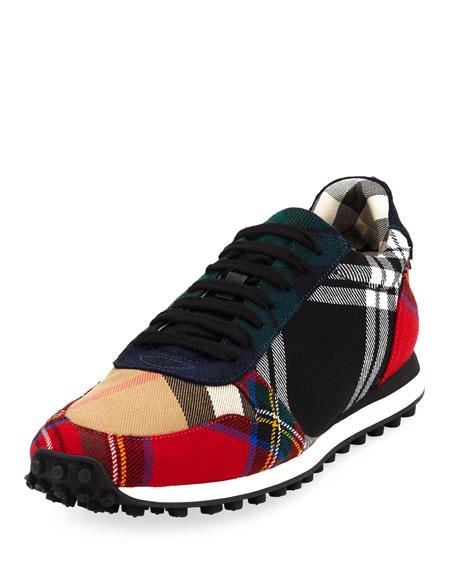 Travis Tartan Lace-Up Sneaker
