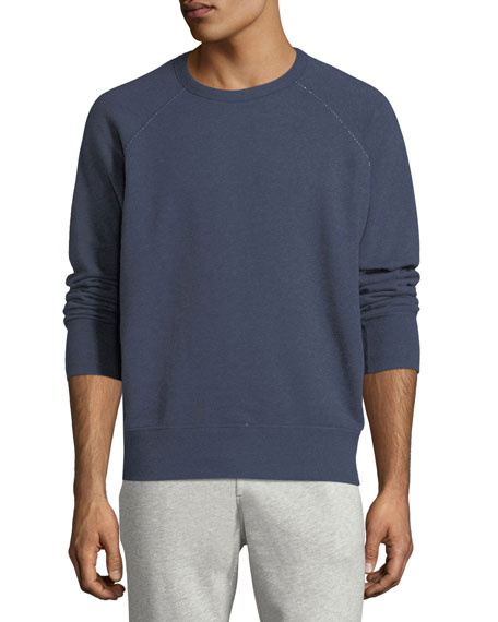 Image 1 of 1: Men's Heathered Long-Sleeve Sweatshirt