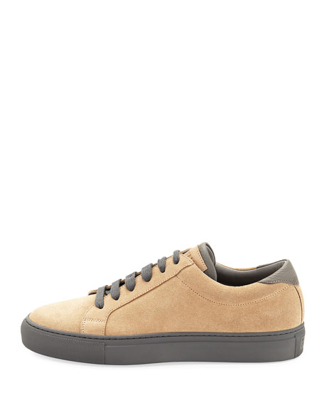 Men's Suede Lace-Up Sneakers