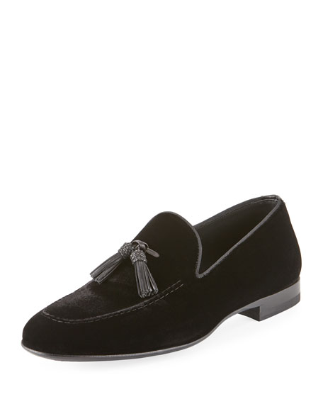 Velvet Tassel Loafer