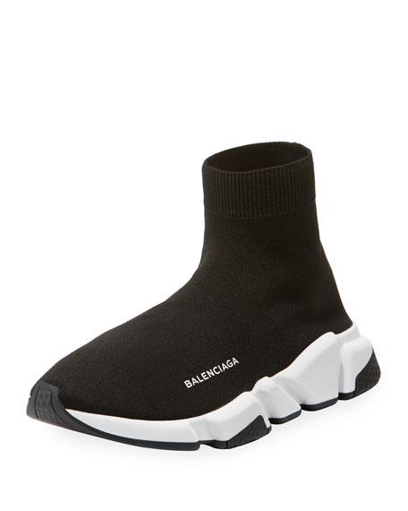Balenciaga Men's Speed Signature Mesh Sock Sneakers