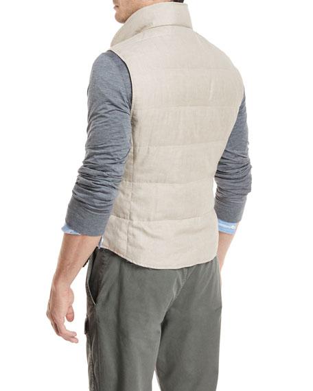 Padded Houndstooth Vest