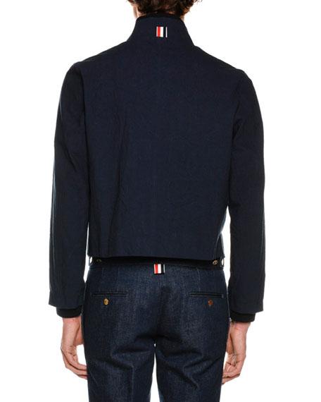 Reversible Ribbed & Check Jacket