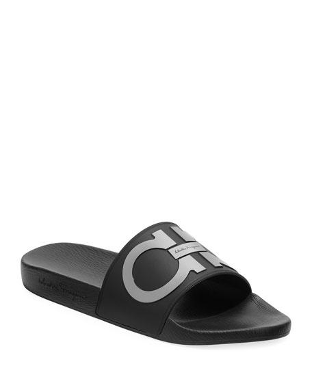 6fde51fdc962ca Salvatore Ferragamo Men's Groove Gancini Slide Sandal